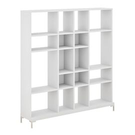 Стеллаж высокий FARO Profoffice (72H005W3) белый размер 1880x400x2020, Цвет товара: Белый