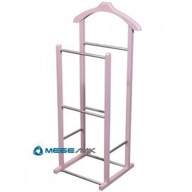 Вешалка костюмная В 28Н Mebelik Розовый 400х300х870, Цвет товара: Розовый