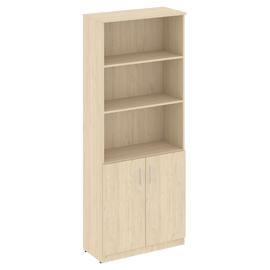 Шкаф для документов высокий широкий (2 низкие двери ) NOVA S Riva S В.СТ-1.1 Бук Артизан 770х360х1915, Цвет товара: Бук артизан