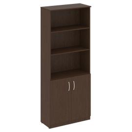 Шкаф для документов высокий широкий (2 низкие двери ) NOVA S Riva В.СТ-1.1 Венге 770х360х1915, Цвет товара: Венге