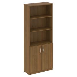 Шкаф для документов высокий широкий (2 низкие двери ) NOVA S Riva В.СТ-1.1 Орех Гварнери 770х360х1915, Цвет товара: Орех гварнери