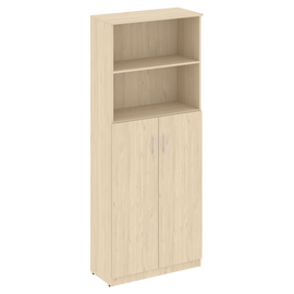 Шкаф для документов высокий широкий (2 средние двери ЛДСП) NOVA S Riva В.СТ-1.6 Бук Артизан 770х360х1915, Цвет товара: Бук артизан