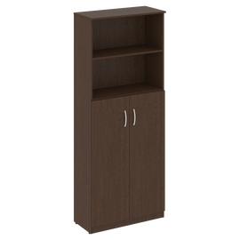 Шкаф для документов высокий широкий (2 средние двери ЛДСП) NOVA S Riva В.СТ-1.6 Венге 770х360х1915, Цвет товара: Венге