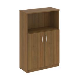 Шкаф для документов средний широкий (2 низкие двери ЛДСП) NOVA S Riva В.СТ-2.1 Орех Гварнери 770х360х1203, Цвет товара: Орех  Гварнери
