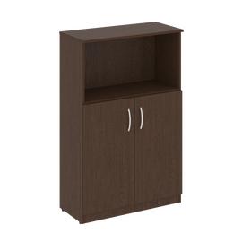 Шкаф для документов средний широкий (2 низкие двери ЛДСП) NOVA S Riva В.СТ-2.1 Венге 770х360х1203, Цвет товара: Венге
