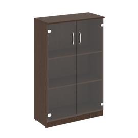 Шкаф для документов средний широкий (2 средние двери стекло) NOVA S Riva В.СТ-2.4 Венге 770х360х1203, Цвет товара: Венге
