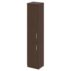 Шкаф для документов узкий высокий (1 низкая дверь ЛДСП, 1 средняя дверь ЛДСП) NOVA S Riva В.СУ-1.3Л Венге 388х360х1915, Цвет товара: Венге