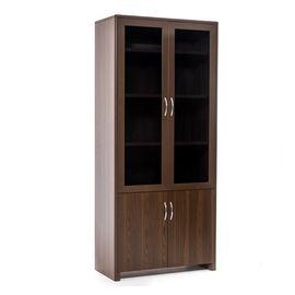 Шкаф для документов со стеклом LEGNO ОРЕХ (102 704 WA) 940x450x2110, Цвет товара: Орех