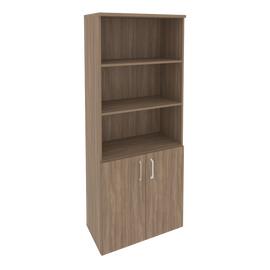 Шкаф для документов высокий широкий (2 низких двери ЛДСП) Onix O.ST-1.1 Дуб Аризона 800x420x1977, Цвет товара: Дуб Аризона