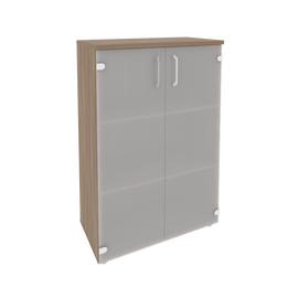 Шкаф для документов средний широкий (2 средние двери стекло) Onix O.ST-2.4 Дуб Аризона 800x420x1207, Цвет товара: Дуб Аризона