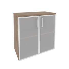 Шкаф для документов низкий широкий Onix O.ST-3.2R Дуб Аризона 800x420x823, Цвет товара: Дуб Аризона