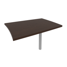 Брифинг-приставка для криволинейного стола (опора КО-1 в комплекте) FIRST KB-1 904х1204х765 Венге, Цвет товара: Венге Цаво
