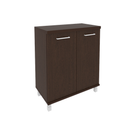 Шкаф для документов низкий широкий (2 низкие двери ЛДСП) FIRST KST-3.1 800*430*960 Венге, Цвет товара: Венге Цаво