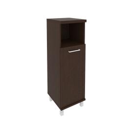 Шкаф для документов средний узкий левый/правый (1 низкая дверь ЛДСП)FIRST KSU-2.1 400*430*1260 Венге, Цвет товара: Венге Цаво