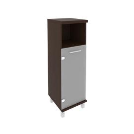 Шкаф для документов средний узкий левый/правый (1 низкая дверь стекло) FIRST KSU-2.2 401*432*1260 Венге, Цвет товара: Венге Цаво
