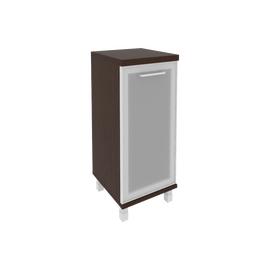 Шкаф для документов низкий узкий левый/правый (1 низкая дверь стекло в раме) FIRST KSU-3.2R 400*430*960 Венге, Цвет товара: Венге Цаво