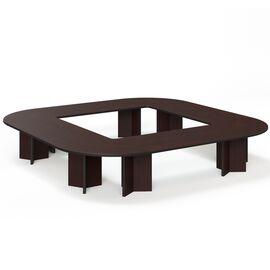 Стол для переговоров  LEGNO ПАЛИСАНДР (Conference table 416x416 PL) 4160x4160x760, Цвет товара: Палисандр