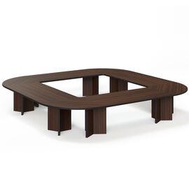 Стол для переговоров  LEGNO ОРЕХ (LEGNO Conference table 416x416 WA) 4160x4160x760, Цвет товара: Орех