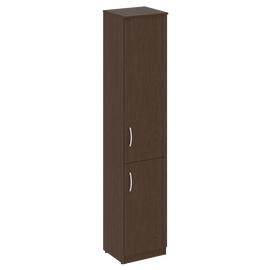 Шкаф высокий узкий для документов (1 низкая дверь ЛДСП, 1 средняя дверь ЛДСП)NOVA S В.СУ-1.3Пр Венге 388х360х1915, Цвет товара: Венге