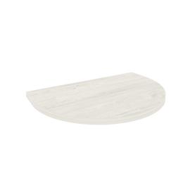 Приставка к столу STYLE Л.ПР-2.1 Дуб Наварра 600х400х22 с опорой металлической (хром) STYLE Л.ВТ-710 60х60х710, Цвет товара: Дуб наварра