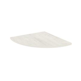 Приставка к столу STYLE Л.ПР-4  Белый  600х600х22 с опорой металлической (хром) STYLE Л.ВТ-710 60х60х710, Цвет товара: Дуб наварра