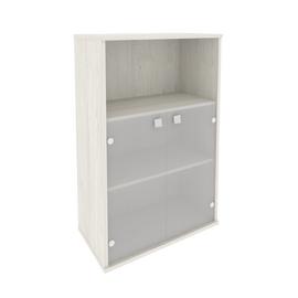 Шкаф средний широкий для документов (2 низкие двери стекло) STYLE Л.СТ-2.2 Дуб Наварра 778х410х1215, Цвет товара: Дуб наварра