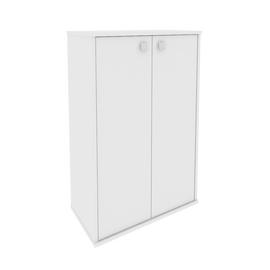 Шкаф средний широкий для документов в офис(2 средние двери ЛДСП) STYLE Л.СТ-2.3 Белый 778х410х1215, Цвет товара: Белый
