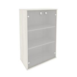 Шкаф средний широкий для документов (2 средние двери стекло) STYLE Л.СТ-2.4 Дуб Наварра 778х410х1215, Цвет товара: Дуб наварра