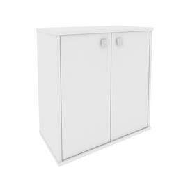 Шкаф низкий широкий для документов (2 низкие двери ЛДСП) STYLE Л.СТ-3.1 Белый 778х410х828, Цвет товара: Белый