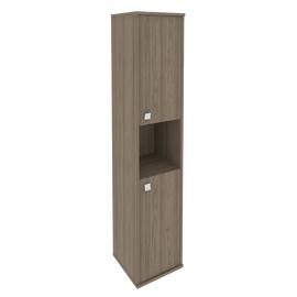 Шкаф для документов высокий узкий правый (2 низкие двери ЛДСП) STYLE Л.СУ-1.5Пр Вяз Благородный 12х410х1980, Цвет товара: Вяз благородный темный