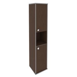 Шкаф для документов высокий узкий правый (2 низкие двери ЛДСП) STYLE Л.СУ-1.5Пр Венге 412х410х1980, Цвет товара: Венге