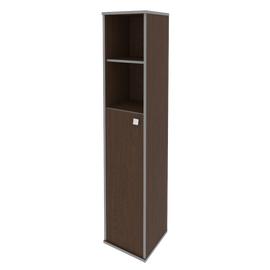 Шкаф для документов высокий узкий левый (1 средняя дверь ЛДСП) STYLE Л.СУ-1.6Л Венге 412х410х1980, Цвет товара: Венге