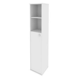 Шкаф для документов высокий узкий левый (1 средняя дверь ЛДСП) STYLE Л.СУ-1.6Л Белый 412х410х1980, Цвет товара: Белый