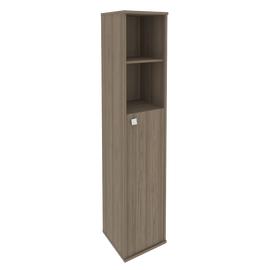 Шкаф для документов высокий узкий правый (1 средняя дверь ЛДСП) STYLE Л.СУ-1.6Пр Вяз Благородный 412х410х1980, Цвет товара: Вяз благородный темный
