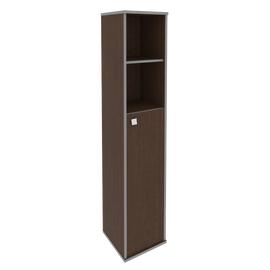Шкаф для документов высокий узкий правый (1 средняя дверь ЛДСП) STYLE Л.СУ-1.6Пр Венге 412х410х1980, Цвет товара: Венге