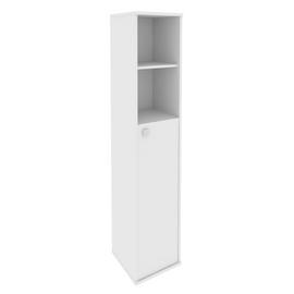 Шкаф для документов высокий узкий правый (1 средняя дверь ЛДСП) STYLE Л.СУ-1.6Пр Белый 412х410х1980, Цвет товара: Белый