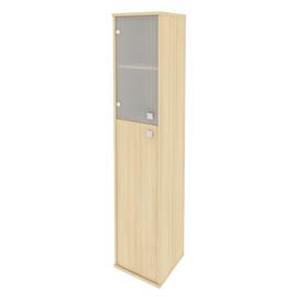 Шкаф для документов высокий узкий левый (1 средняя дверь ЛДСП, 1 низкая дверь стекло) STYLE Л.СУ-1.7Л Акация Лорка 412х410х1980, Цвет товара: Акация Лорка