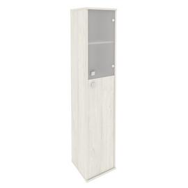 Шкаф для документов высокий узкий правый (1 средняя дверь ЛДСП, 1 низкая дверь стекло) STYLE Л.СУ-1.7Пр Дуб Наварра 412х410х1980, Цвет товара: Дуб наварра