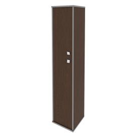 Шкаф для документов высокий узкий левый (1 средняя дверь ЛДСП, 1 низкая дверь ЛДСП) STYLE Л.СУ-1.8Л Венге 412х410х1980, Цвет товара: Венге