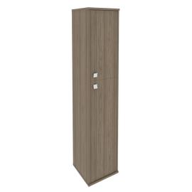 Шкаф для документов высокий узкий правый (1 средняя дверь ЛДСП, 1 низкая дверь ЛДСП) STYLE Л.СУ-1.8Пр Вяз Благородный 412х410х1980, Цвет товара: Вяз благородный темный
