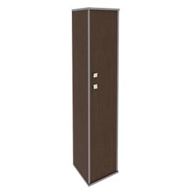 Шкаф для документов высокий узкий правый (1 средняя дверь ЛДСП, 1 низкая дверь ЛДСП) STYLE Л.СУ-1.8Пр Венге 412х410х1980, Цвет товара: Венге