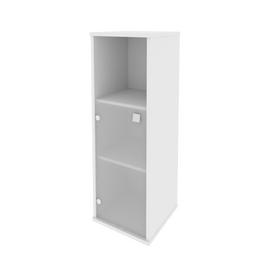 Шкаф для документов средний узкий левый (1 низкая дверь стекло) STYLE Л.СУ-2.2Л Белый 412х410х1215, Цвет товара: Белый