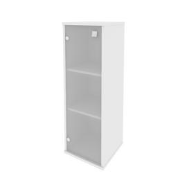 Шкаф для документов средний узкий левый (1 средняя дверь стекло) STYLE Л.СУ-2.4 Л Белый 412х410х1215, Цвет товара: Белый