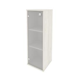 Шкаф для документов средний узкий левый (1 средняя дверь стекло) STYLE Л.СУ-2.4Л Дуб Наварра 412х410х1215, Цвет товара: Дуб наварра