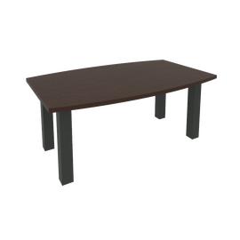 Стол для переговоров (цена указана с опорами)FIRST KPRG-2 1800x1100x750 Венге/Антрацит, Цвет товара: Венге Цаво