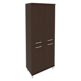 Шкаф для документов высокий широкий (2 низкие двери ЛДСП, 2 средние двери ЛДСП)FIRST KST-1.3 800*430*2060 Венге, Цвет товара: Венге Цаво