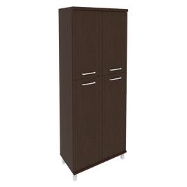 Шкаф для документов высокий широкий (2 средние двери ЛДСП, 2 низкие двери ЛДСП)FIRST KST-1.8 800*430*2060 Венге, Цвет товара: Венге Цаво