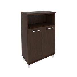Шкаф для документов средний широкий (2 низкие двери ЛДСП)FIRST KST-2.1 800*430*1260 Венге, Цвет товара: Венге Цаво