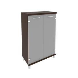 Шкаф для документов средний широкий (2 средние двери стекло) FIRST KST-2.4 800*430*1260 Венге, Цвет товара: Венге Цаво