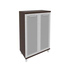 Шкаф для документов средний широкий (2 средние двери стекло в раме) FIRST KST-2.4R 800*430*1260 Венге, Цвет товара: Венге Цаво